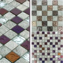 Carrelage Mosaïque Sheldrake Pierre Naturelle Verre Mix