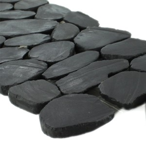 Galets de rivière Bordure 10x30cm Anthracite Pebble