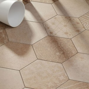 Carreaux de Ciment Optique Hexagone Atlanta