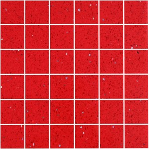 Carrelage Mosaïque Quartz Composite Rouge