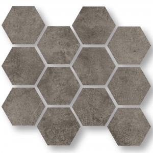 Mosaïque Carrelage Oregon Gris Brun Hexagone