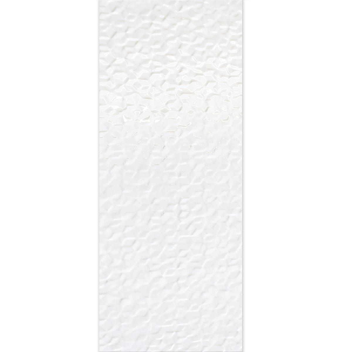 Carrelage mural structur blanc brillant 30x90cm lz69282 for Carrelage blanc