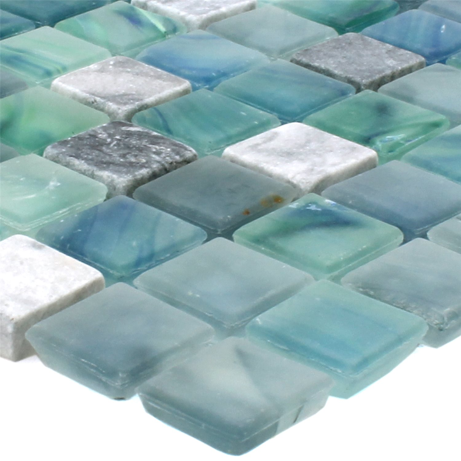 Carrelage mosa que mayon verre marbre mix seevert tm33724 for Mosaique carrelage verre